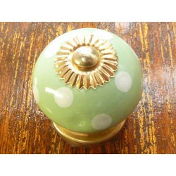Porcelain knobs pitch light green