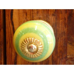 Porcelain knobs acidulé yellow green apple