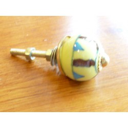 Mini knobs yellow spiral chocolat