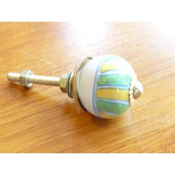 Mini knobs yellow and green spring