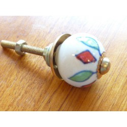 Mini knobs losange red and green