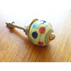 Mini knobs yellow with pitch