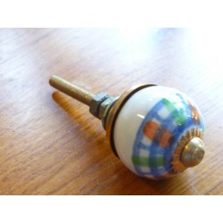 Mini knobs green and orange line turquoise