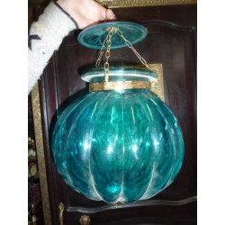 big lamp KHARBUJA blue turquoise