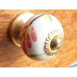 Mini knobs chinoise flowers oranges