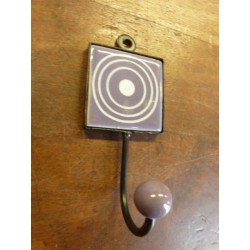 Mini hook square purple with cercle