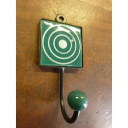 Mini hook square emeraude with cercle