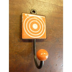 Mini hook square orange with cercle