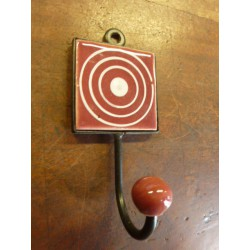 Mini hook square bordeaux with cercle