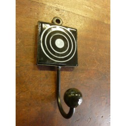 Mini hook square black with cercle