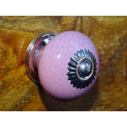 Handle pink round cracked effect