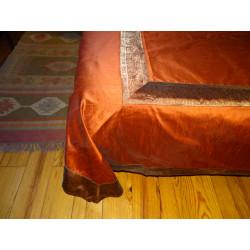 curtains taffetas borders brocade pink