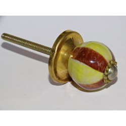 Furniture handle yellow and brown