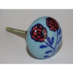 Handle of furniture with two roses