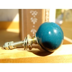 porcelain handle emerald green color ball