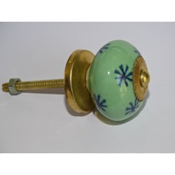 Spring green and ultramarine star drawer or door knobs
