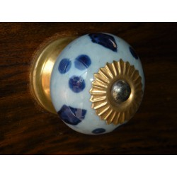 Porcelain knobs blue clair/dark-blue