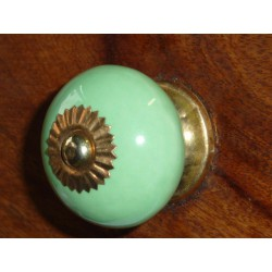 Porcelain knobs UNIS green spring