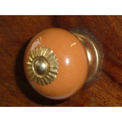 Porcelain knobs UNIS brown glacé