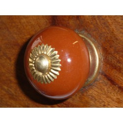 Porcelain knobs UNIS brown dark