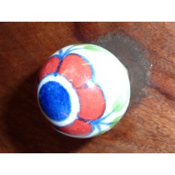 butons ball big flower red/dark-blue